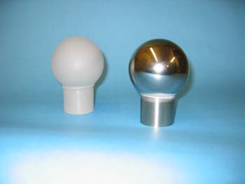 gray and polished steel Balls with posts