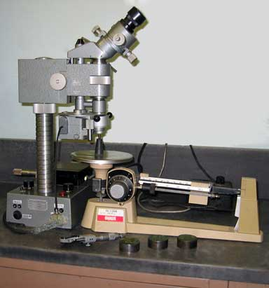 Hardness Test Setup