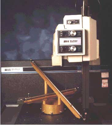 The Ball Bar thing shown with a Sheffield Coordinate Measuring Machine